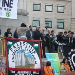 George Galloway showing his support for Palestine