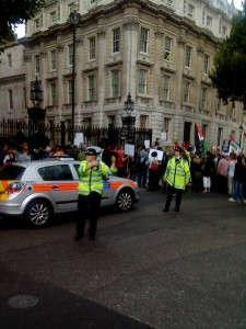 Protestors outside 10 Downing Street
