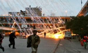 An air strike by Israel on a UN school.
